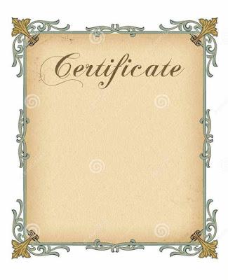 Blank Free Certificate Templates Cfasx