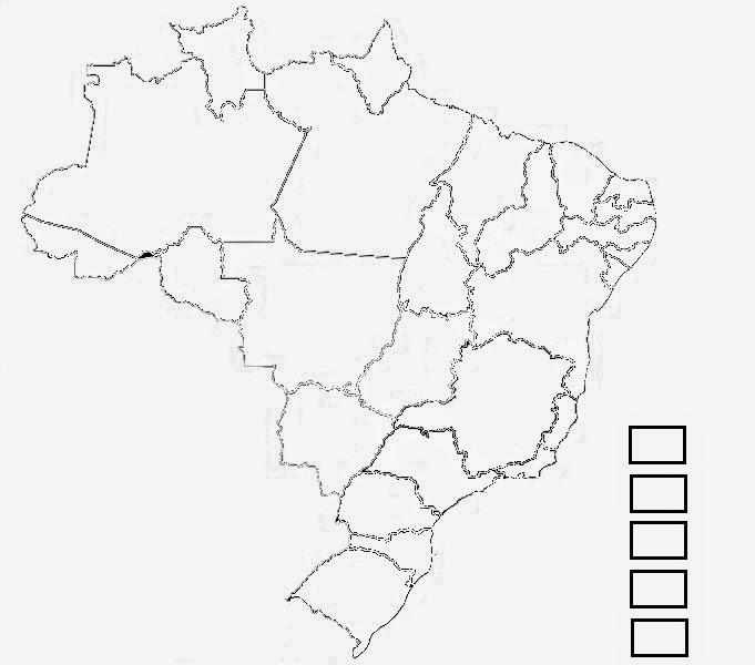 Desenho Do Mapa Do Brasil Dividido Em Regioes