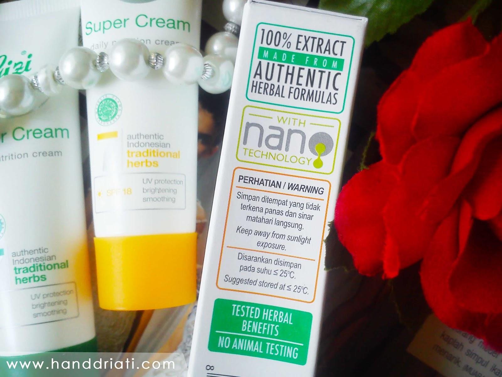 Review Gizi Super Cream, Skin Care Berbahan Herbal Alami ...