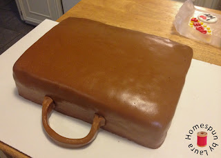suitcase birthday cake diy