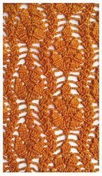 Patrón #759: Punto Hoja a Crochet