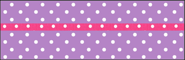 Pink, Purple and White Polka Dots Free Printable Labels.