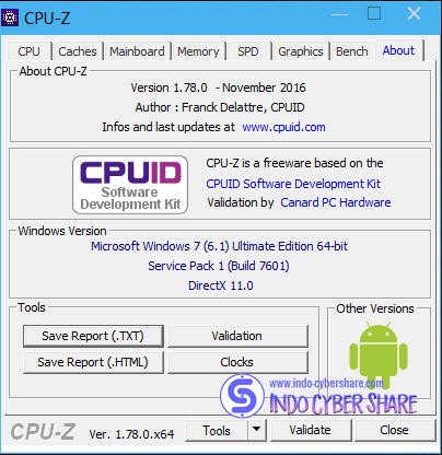 CPU Z v1.78 Terbaru Free Download