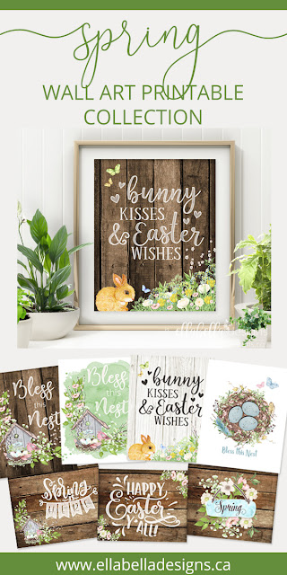 Welcome Spring & Easter Printable Wall Art Decor