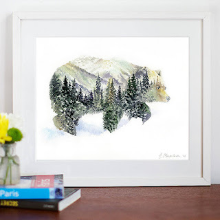 Mountains & Forest Canadian Wall Art