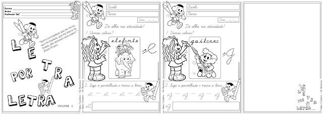 Caderno Letra Por Letra Vol 1 (Pontilhado com setas)