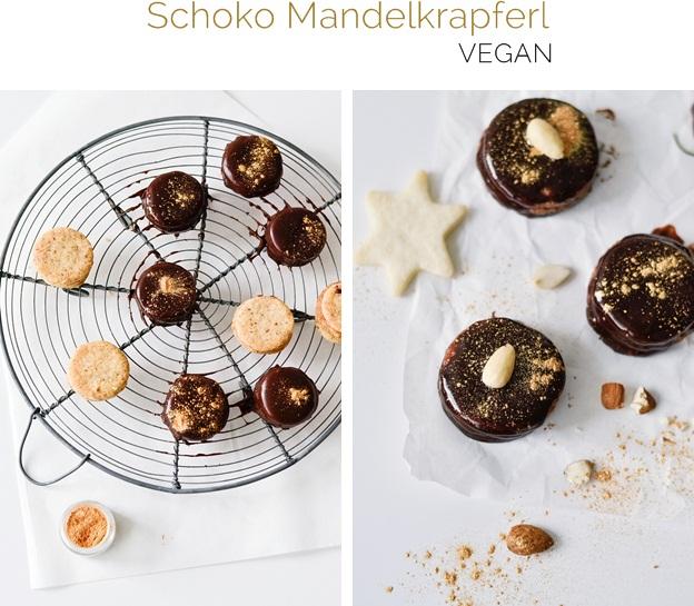 Vegane Schoko Mandelkrapferl