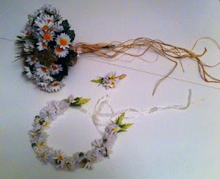 papatya gelin çiçeği gelin tacı damat yaka çiçeği
