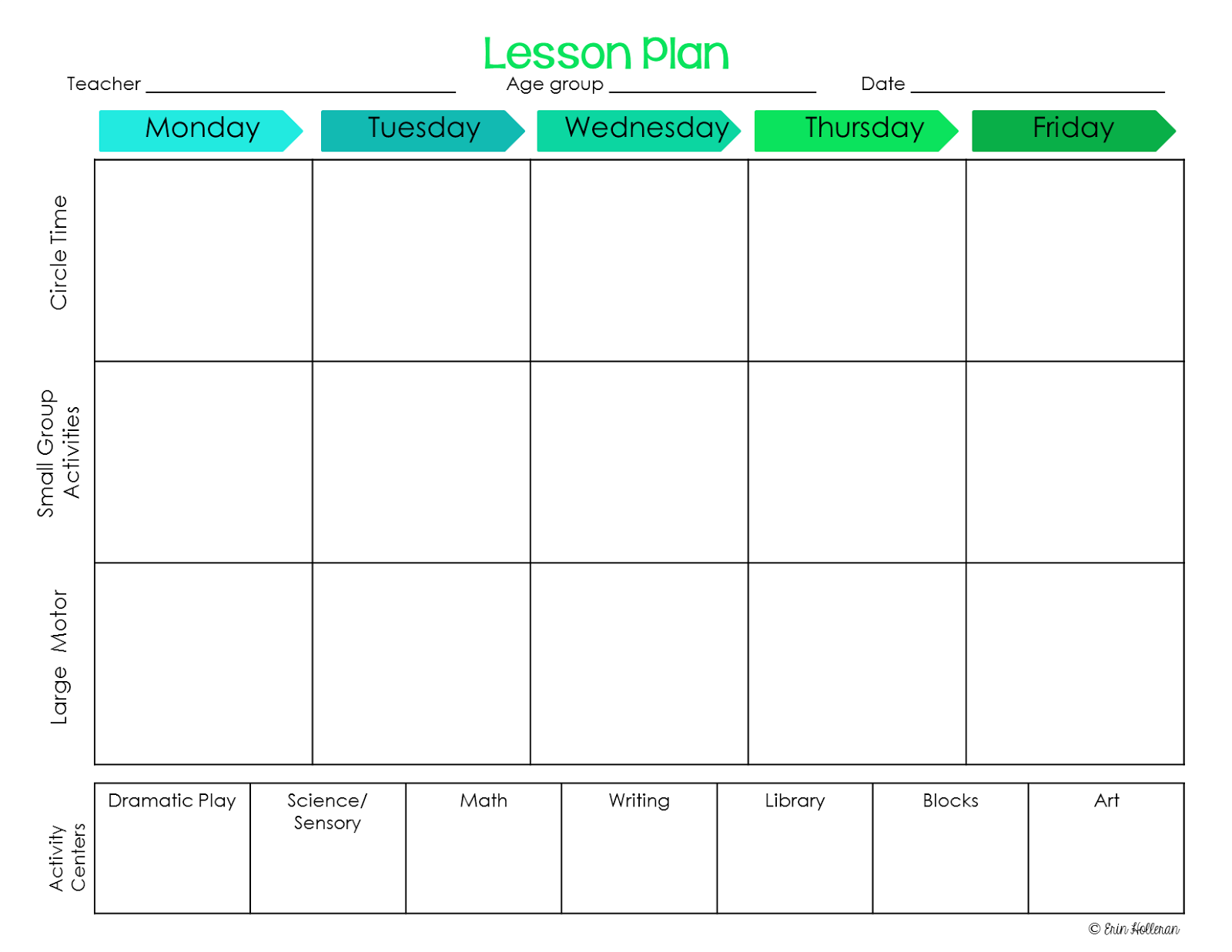 Preschool ponderings make your lesson plans work for you for 6 week lesson plan template