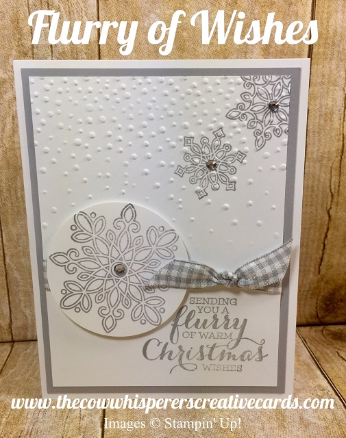 Card, CAS, Flurry of Wishes, Softly Falling Embossing Folder