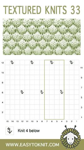 Textured Knitting 33: Bubble stitch #EasyToKnit