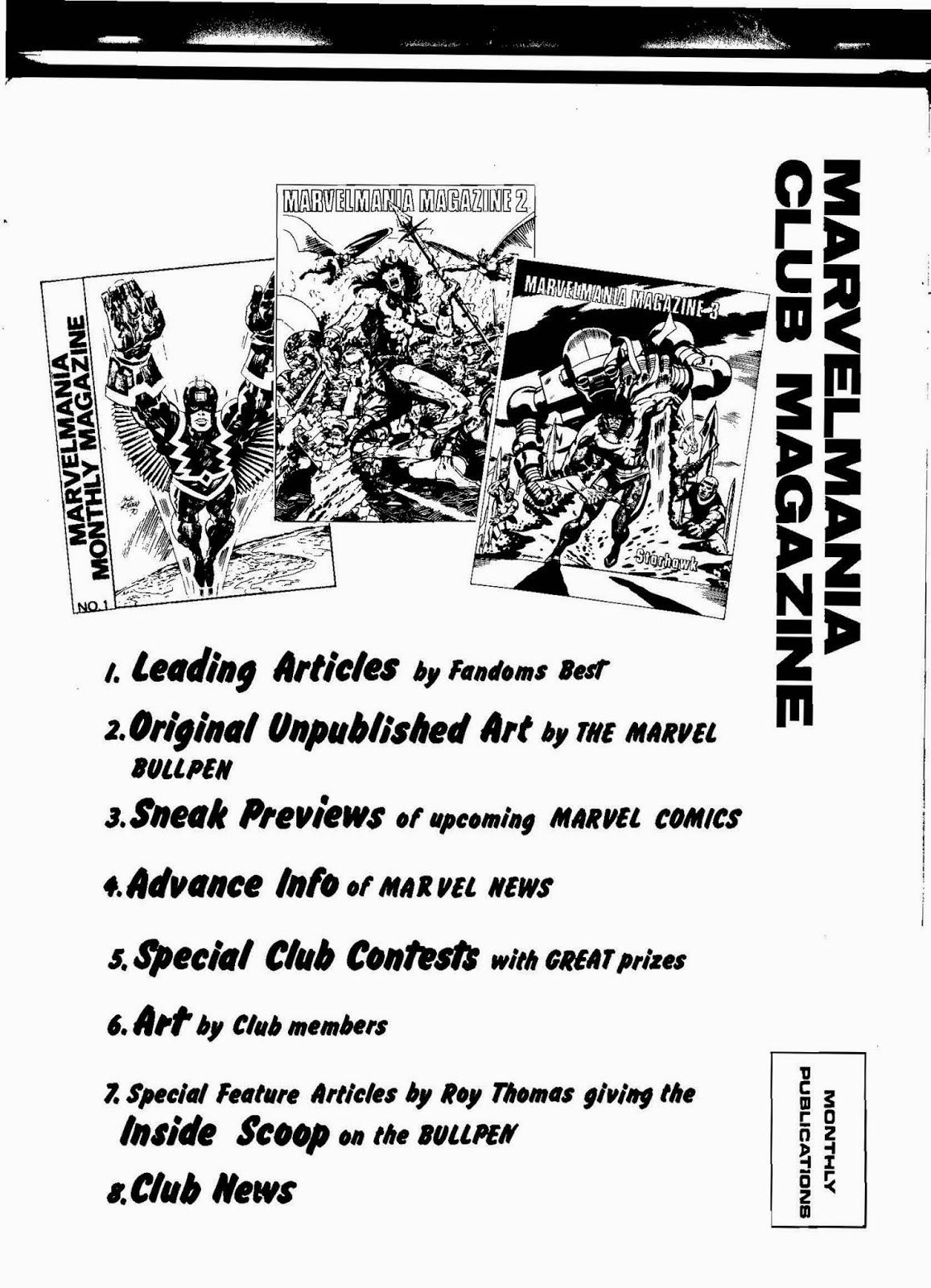 Barry's Pearls of Comic Book Wisdom: Marvelmania Catalogs