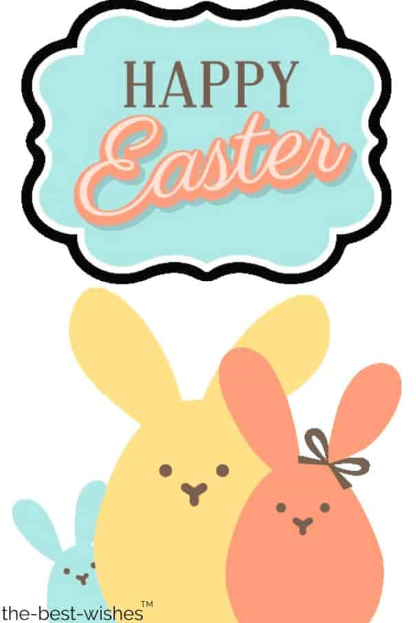 colorful bunny easter image