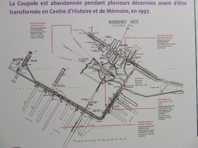 Bunker Tunnel System Map: Subterranean History: La Coupole, Wizernes