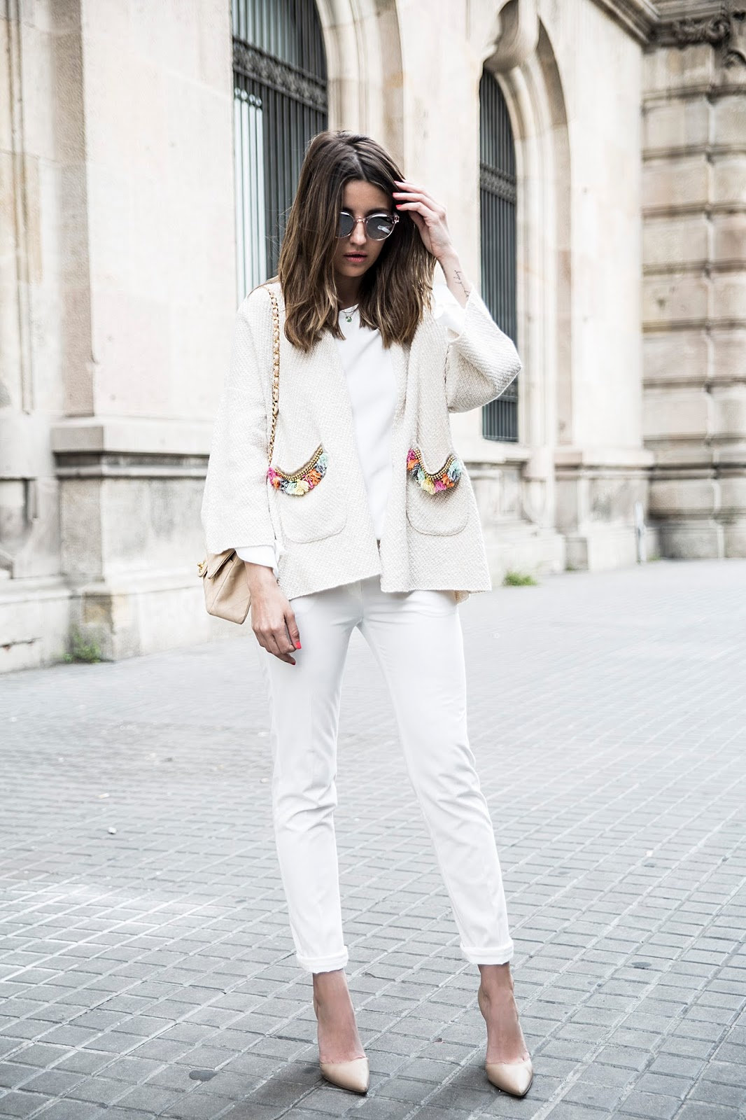 All White Look | Fashion Blogger