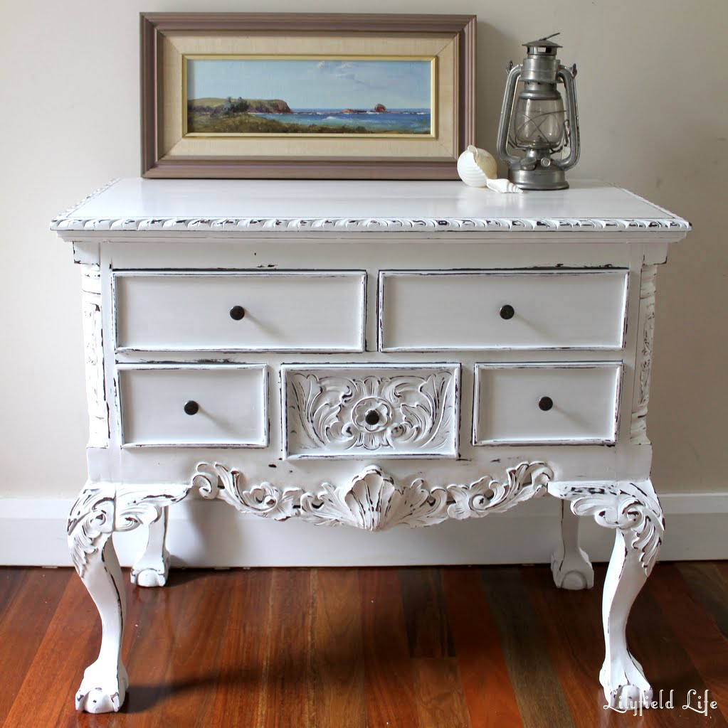 Painted Queen Anne Sofa Table Good Bed Hong Kong Lilyfield Life Painting Furniture White