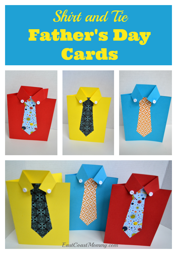 how to make a fathers day shirt card east coast shirt and tie s day card 8210