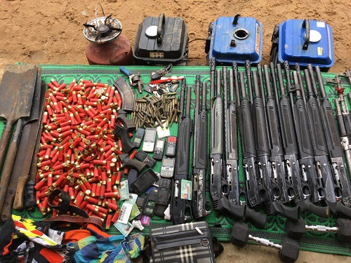 Army heavily Deals With N'Delta Militants, 5 Killed, 23 Arrested, Ammunition Recovered; See Photos