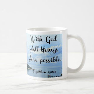 With God all things are possible coffee mug