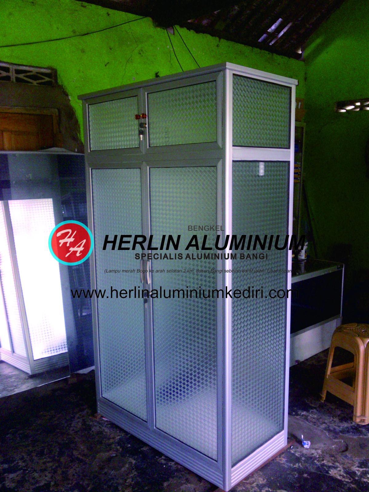 Daftar harga lemari pakaian aluminium Kediri Jawa Timur