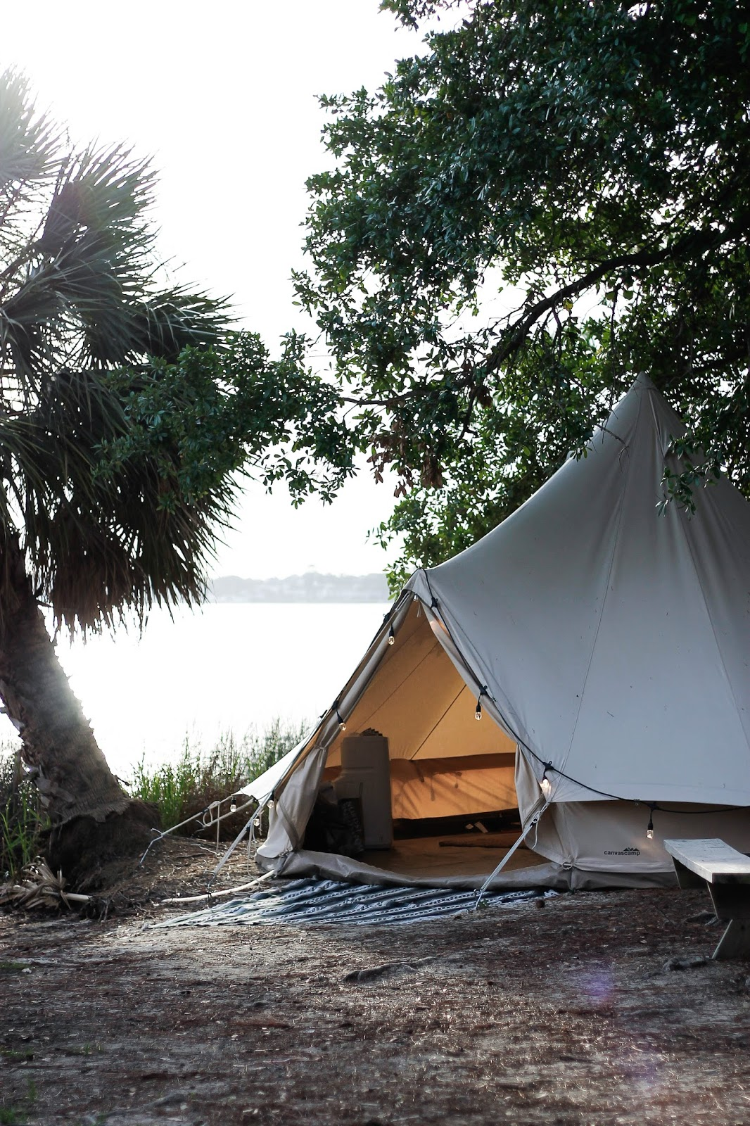 What It's Like To Go Glamping: Tent Tour... | The Dainty ...