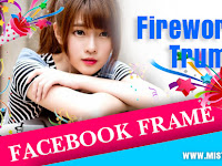 Facebook Frame Happy New Year 2018 with Firework and Trumpet