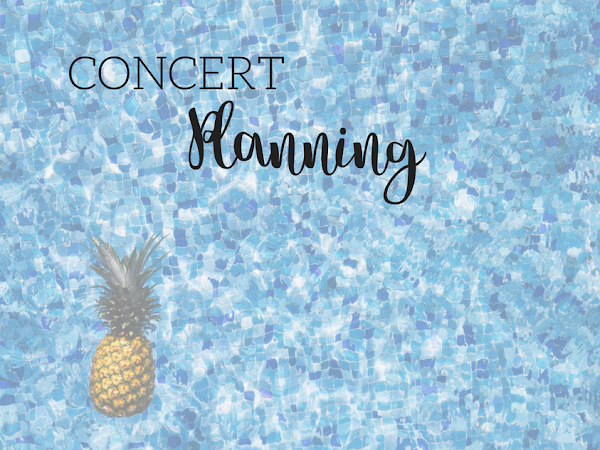 Perfect Poolside Planning- Concert Planning