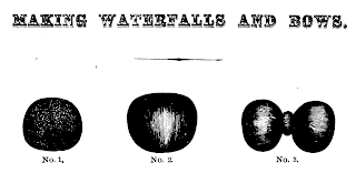 """Making a Waterfall"" from Mark Campbell's 1867 ""The Self-Instructor in Hairwork"""