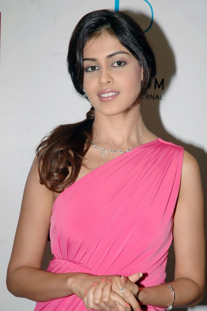 Genelia D'Souza Pink Dress HD Pics | ActressHDWallpapers