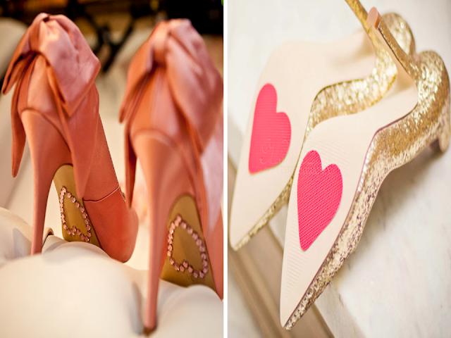 sapato de noiva com coração