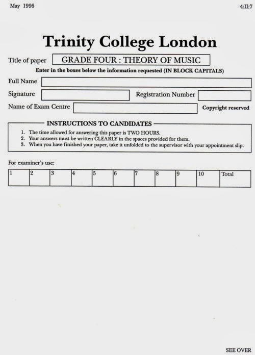EMS MUSIC DISTRIBUTION (SIBU): TRINITY COLLEGE OF MUSIC - WRITTEN EXAMS