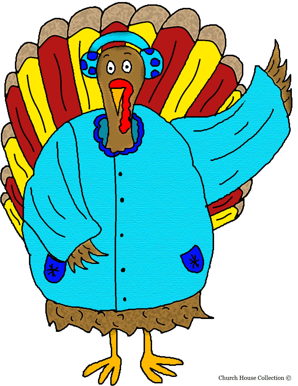 Church House Collection Blog: Turkey Wearing Winter Coat and ...