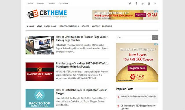Top 9 Blogger Templates | Best Blogger Templates -2018