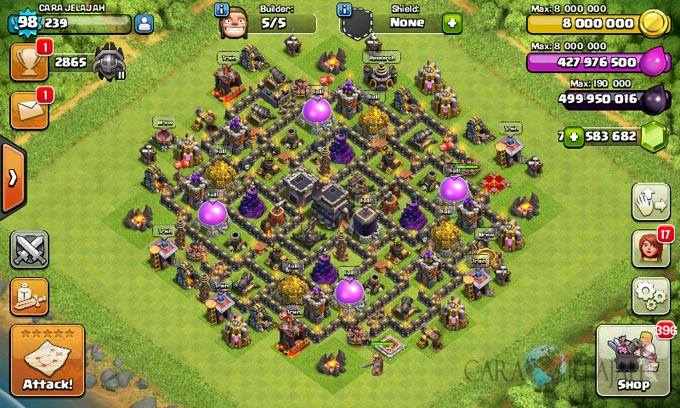 Susunan Base Coc Th 9 Terkuat 6