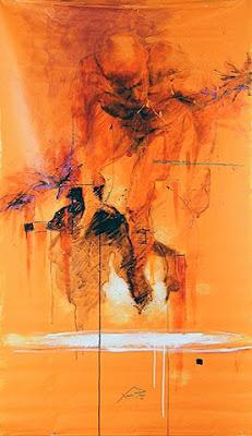 """""""Momentos amargos dulce tentación"""" Xolotl Polo (México). Acrílico. 180 x 100 cm. 2009."""