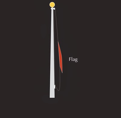 Diy How To Make A Holiday Flagpole With Lights