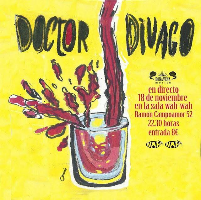 Doctor Divago concierto en Wah Wah 18-11-2016