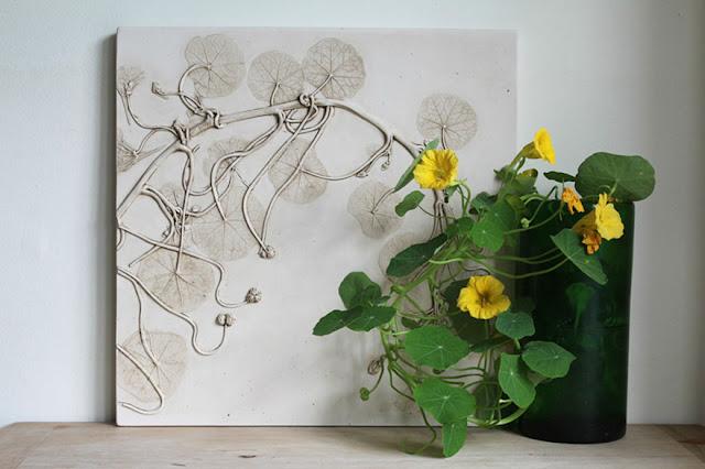 beautiful flower fossill artwork by Rachel Dein