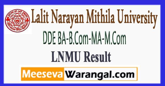 LNMU DDE BA-B.Com-MA-M.Com 1st 2nd 3rd Year Result 2017