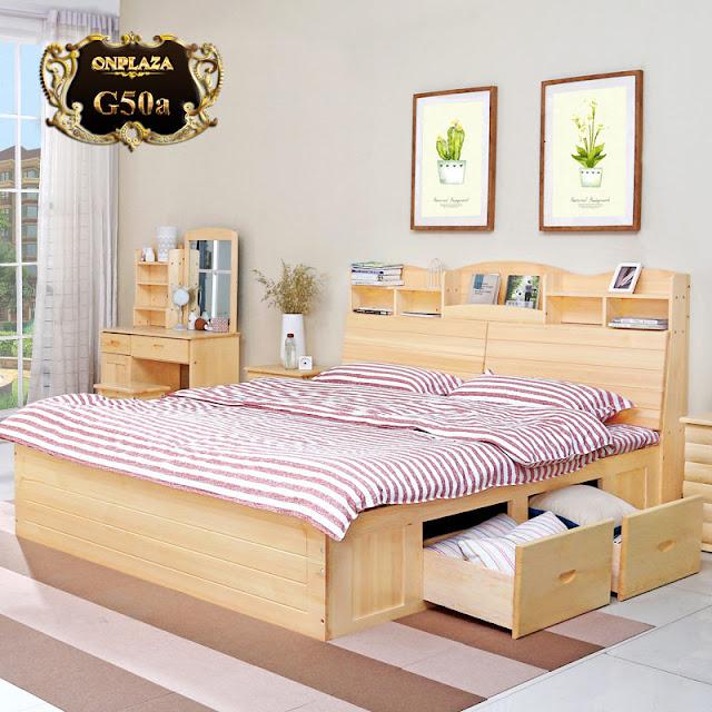 Giường gỗ đa năng thông minh cho phòng ngủ hiện đại