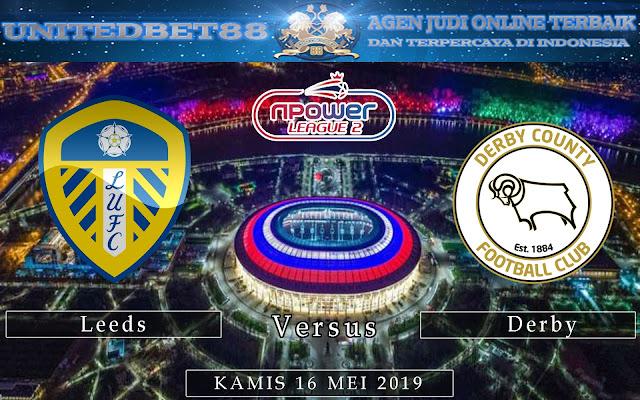 PREDIKSI Leeds vs Derby 16 MEI 2019