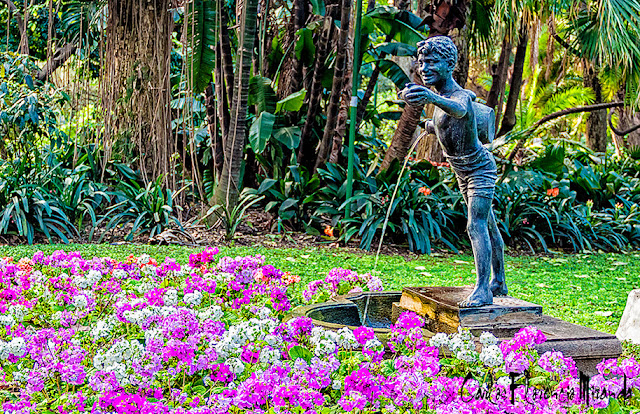 Fuente deUn joven con cántaro de agua en el Botánico,Buenos Aires,Argentina