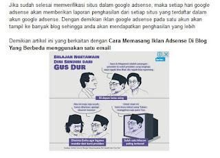 cara pasang iklan dibawah postingan