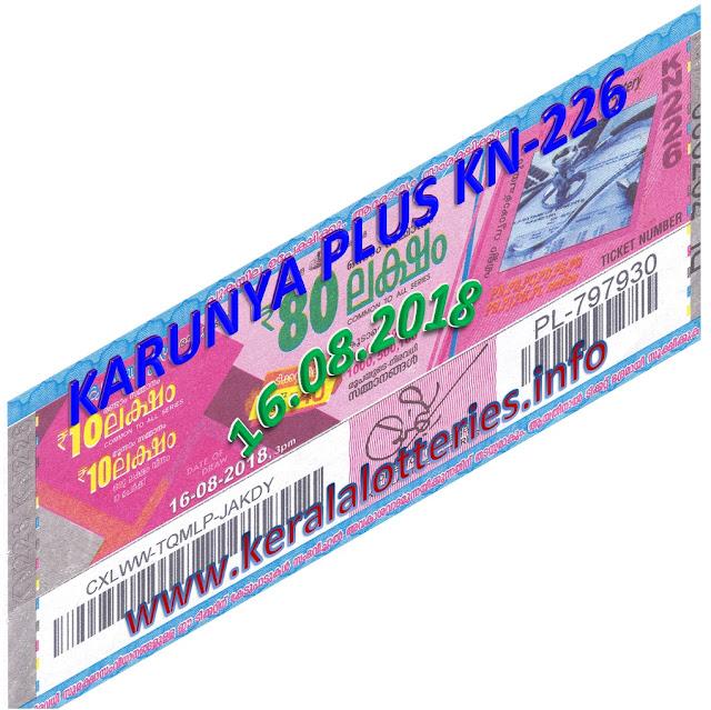 Karunya plus lottery, 16/08/2018 kerala lottery today result Karunya plus, kerala lottery result yesterday, kerala lottery result today, kerala online lottery results, kerala lottery draw, kerala lottery results, kerala state lottery today, lotteries results, 09.08.2018 Karunya plus-lottery, keralalotteries, kerala lottery kerala lottery Karunya plus today result, Karunya plus kerala lottery result, Karunya plus lottery  KN 226, live Karunya plus lottery KN-226, Karunya plus lottery today result, Karunya plus lottery results today, kerala lottery winning number today, kerala lottery winning today,  kerala lottery yesterday, kerala lottery,Nirmal lottery result, Karunya lottery result, summer bumper kerala, kerala lotteries results, todays lottery result, kerala today result, today kerala result, number, lottery Nirmal today kerala lottare, kerala lottery result, lottery today, kerala lottery today draw result kerala lottery kerala lottery youtube, kerala lottery digit guessing,lottery year chart 2018, kerala lottery yesterday draw number,    kerala lottery 2018,  kerala lottery 3 government lottery results, today, today kerala lottery result, 09.08.2018, kerala lottery result 09-08-2018, Karunya plus lottery today, today lottery result Karunya plus, kerala lottery,  yesterday lottery results, kerala winwin lottery, kl lottery, lottery result today kerala, karunya lottery result, kerala result,Kerala lottery nirmal lottery results today,lottery ticket result kerala, lottery today, karunya lottery, nirmal lottery, kerala lottery result today live, keralalotteryresult, akshaya lottery, today lottery results, sthree ticketnumber, result, keralalotteries.info, kerala lottery result 09.7.2018 Karunya plus KN-226 ,