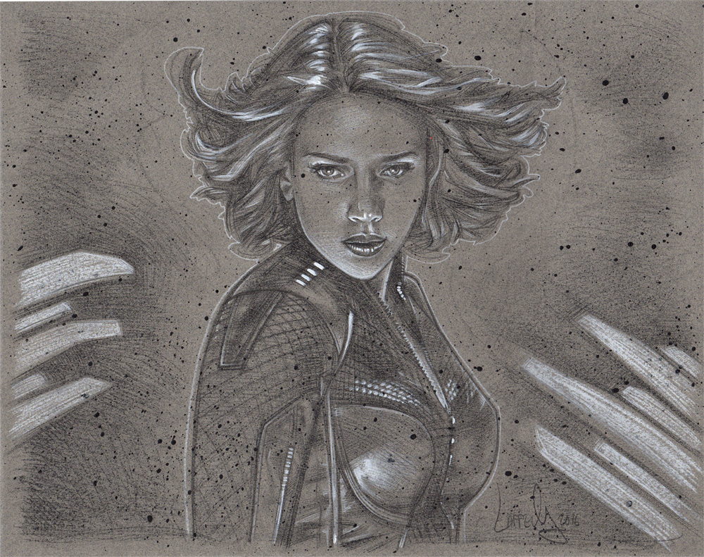Scarlett Johansson as Black Widow, Artwork© Jeff Lafferty