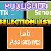 LAB ASSITANT POST - MERIT LIST PUBLISHED (19 DISTRICTS UPDATED)