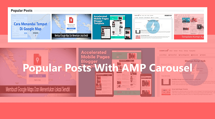 Blogger Popular Posts With AMP Carousel