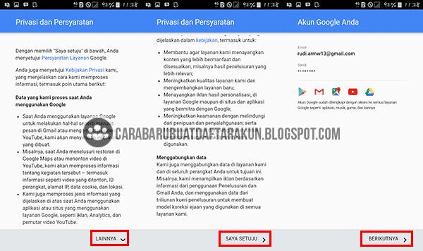 Buat Akun Google Baru lewat Hp Android Samsung Galaxy
