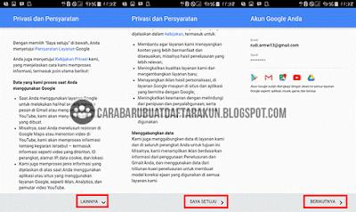 buat akun google lewat android