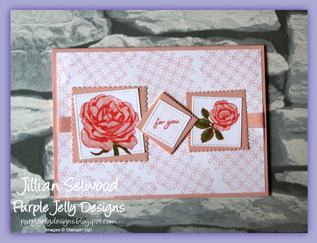 Graceful Garden stamp set, Powder Pink, For you, card